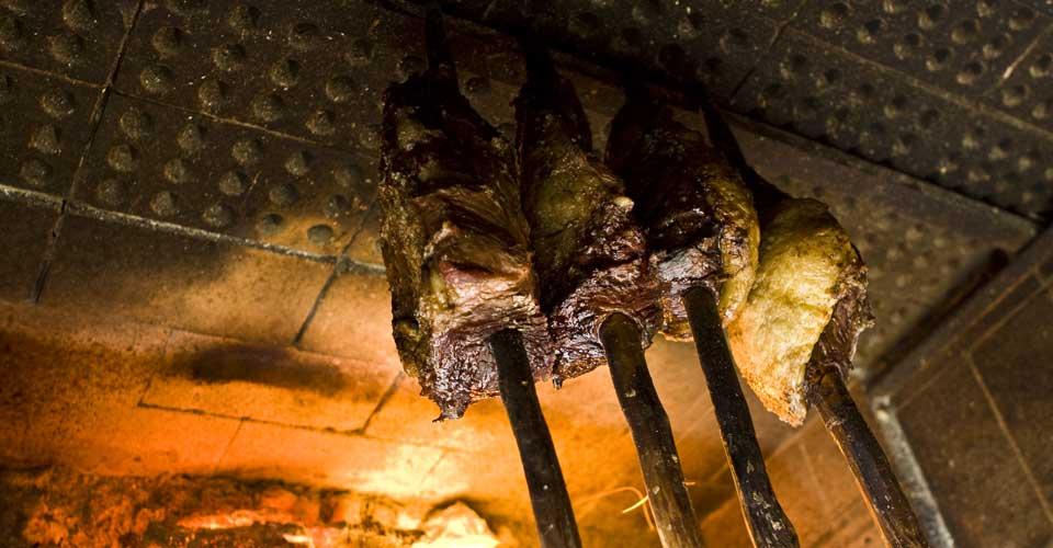 A traditional Brazilian churrasco barbecque - Caiman Lodge