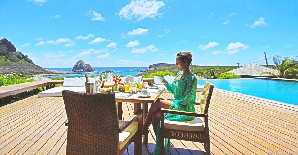 Stunning views from Pousada Maravilha, Fernando de Noronha - Luxury holidays to Brazil